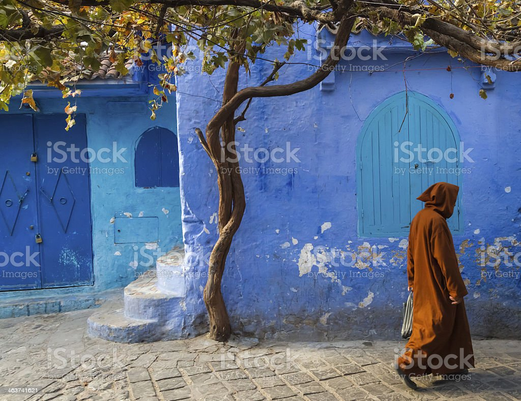 Chefchaouen medina stock photo