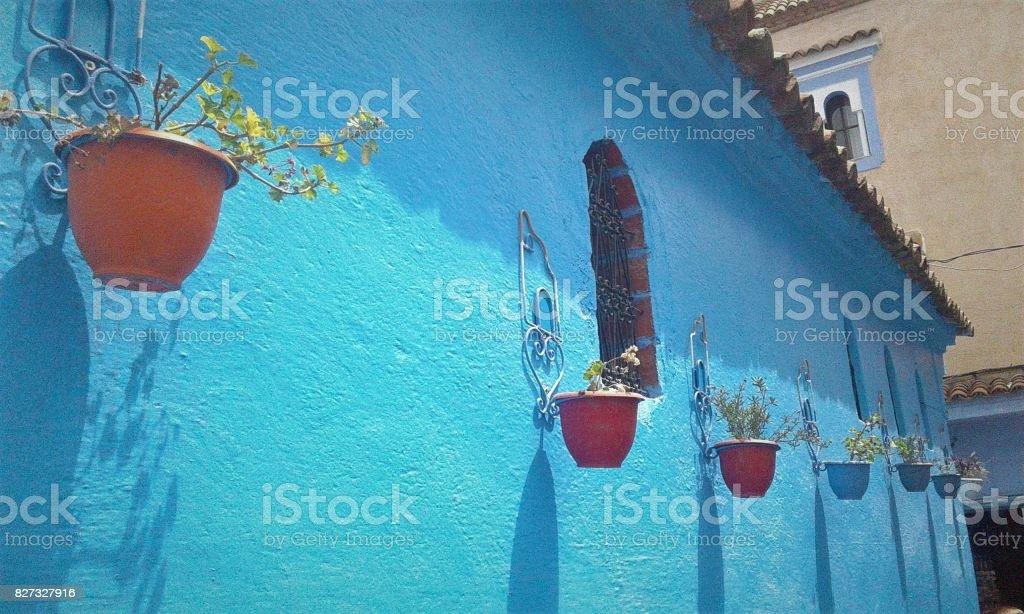 Chefchaouen the city in bleu stock photo