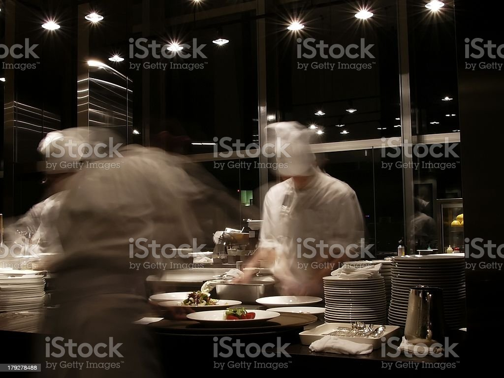 chefs at work stock photo
