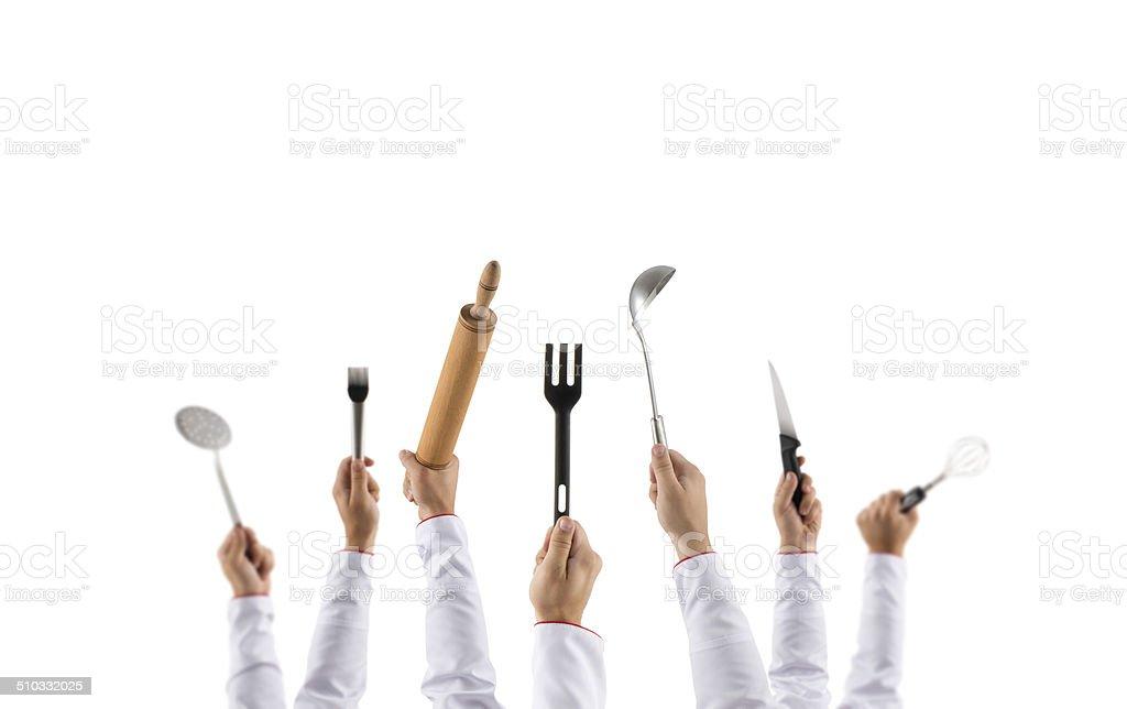 Chefs equipment stock photo