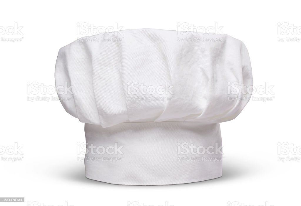 Chefs hat isolated on white stock photo