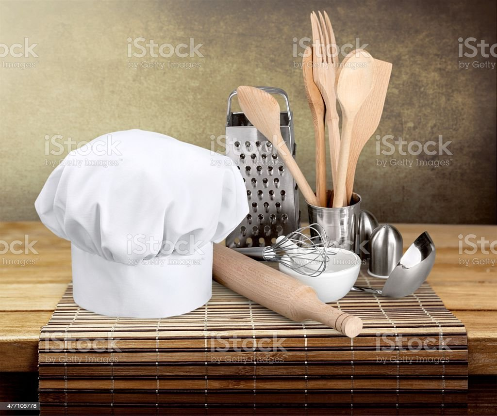 Chef's Hat, Kitchen Utensil, Hat stock photo