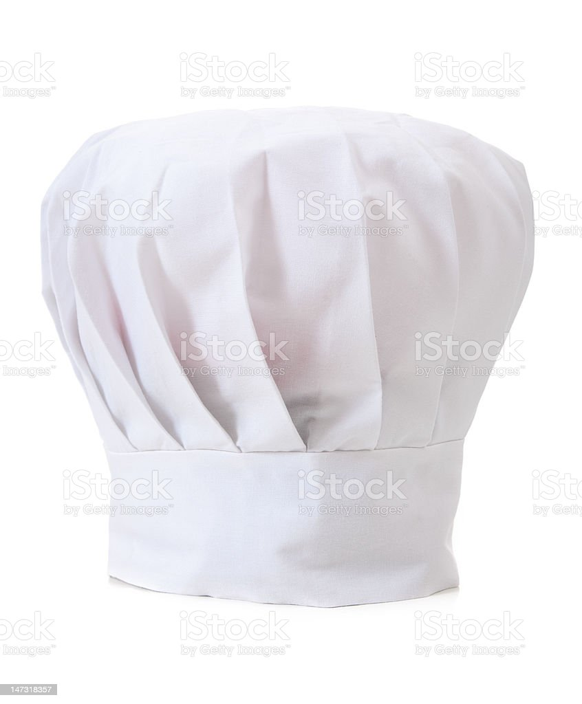 Chef's Hat or Toque on white background stock photo