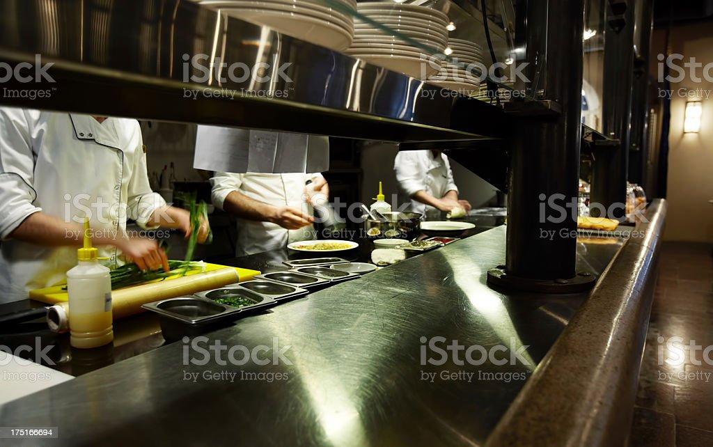 Chefs on kitchen stock photo