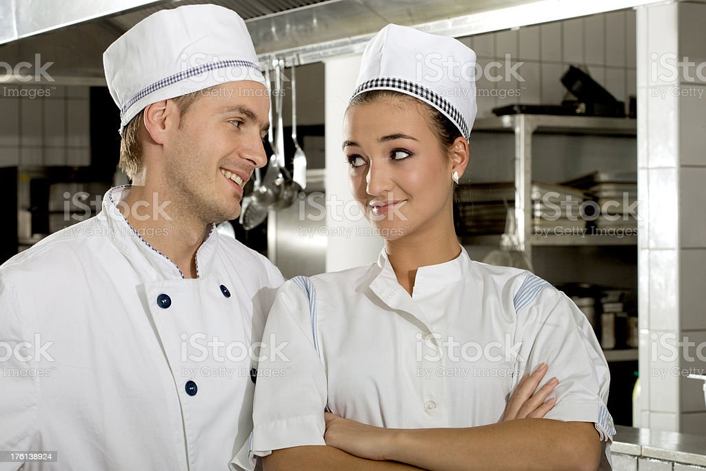 Chefs romance royalty-free stock photo