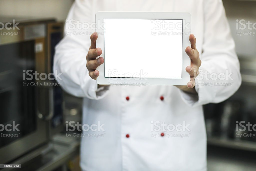 Chef's website royalty-free stock photo