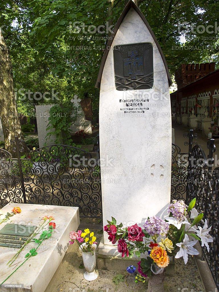 Chekhov grave stock photo