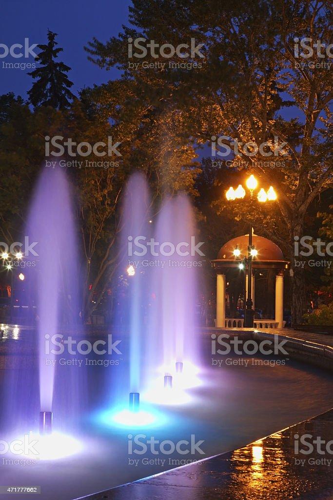 Chekhov square  in Yuzhno-Sakhalinsk. Sakhalin island. Russia stock photo