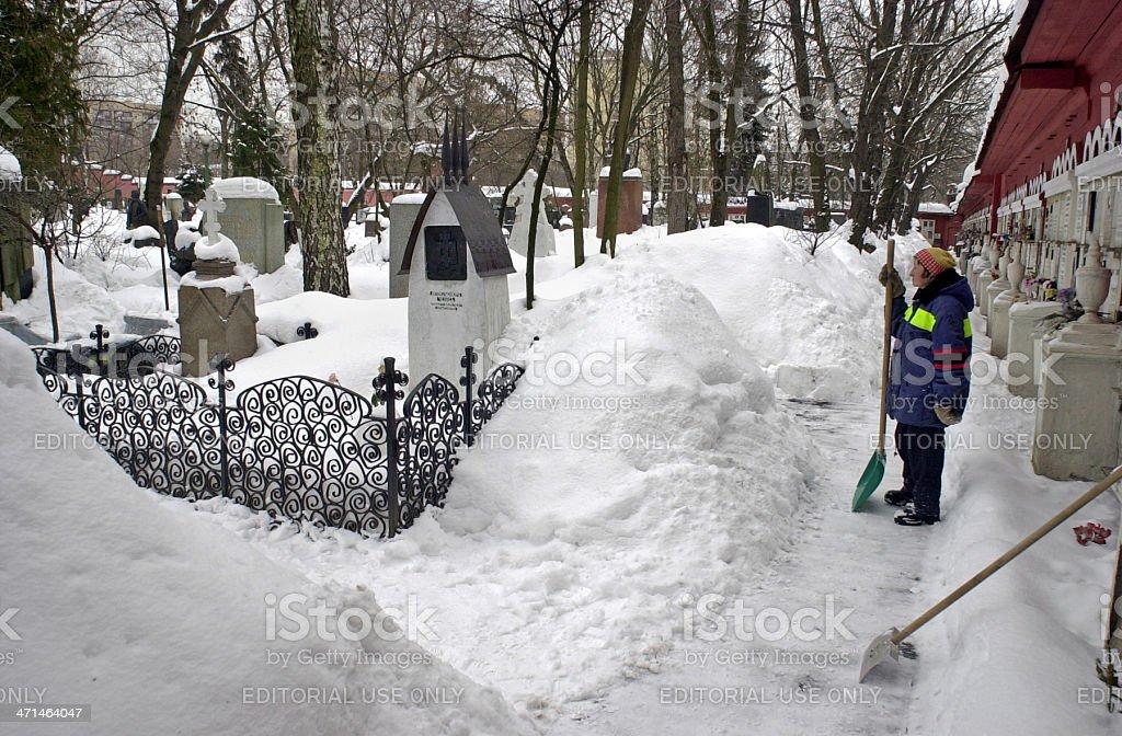 Chekhov's tomb stock photo