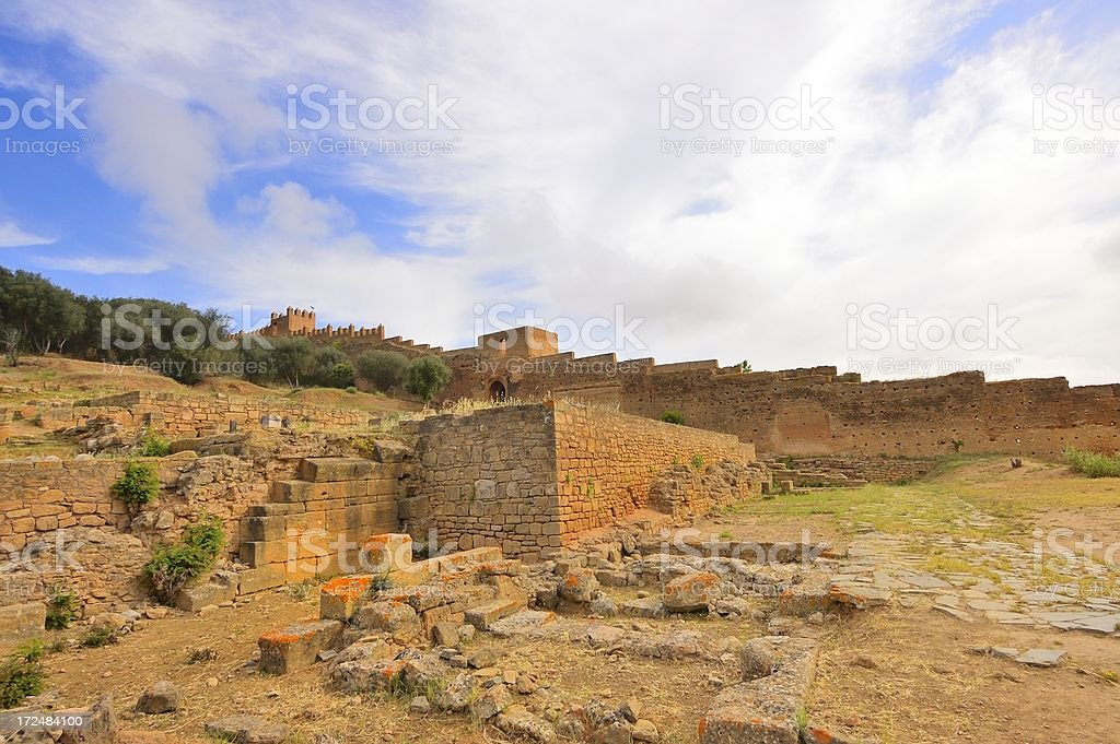 Chellah, Sala Colonia, Fortress Interior stock photo