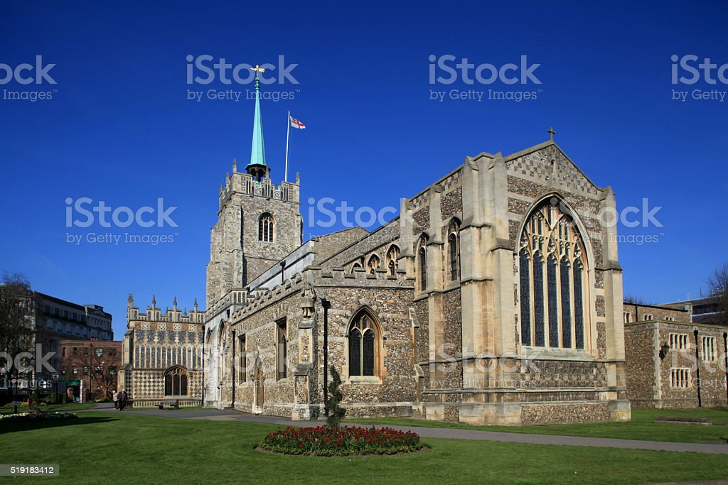 Chelmsford Cathedral, Chelmsford, Essex, England stock photo
