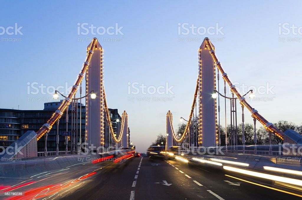 Chelsea Bridge and Traffic stock photo