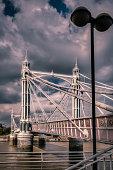 Chelsea Bridge in autumn
