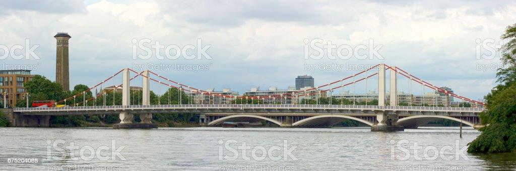 Chelsea bridge in London stock photo