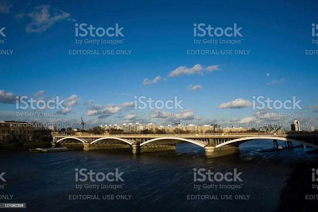 Chelsea Bridge, London, England stock photo