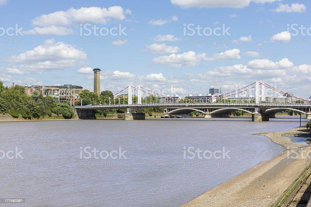Chelsea Bridge, London stock photo