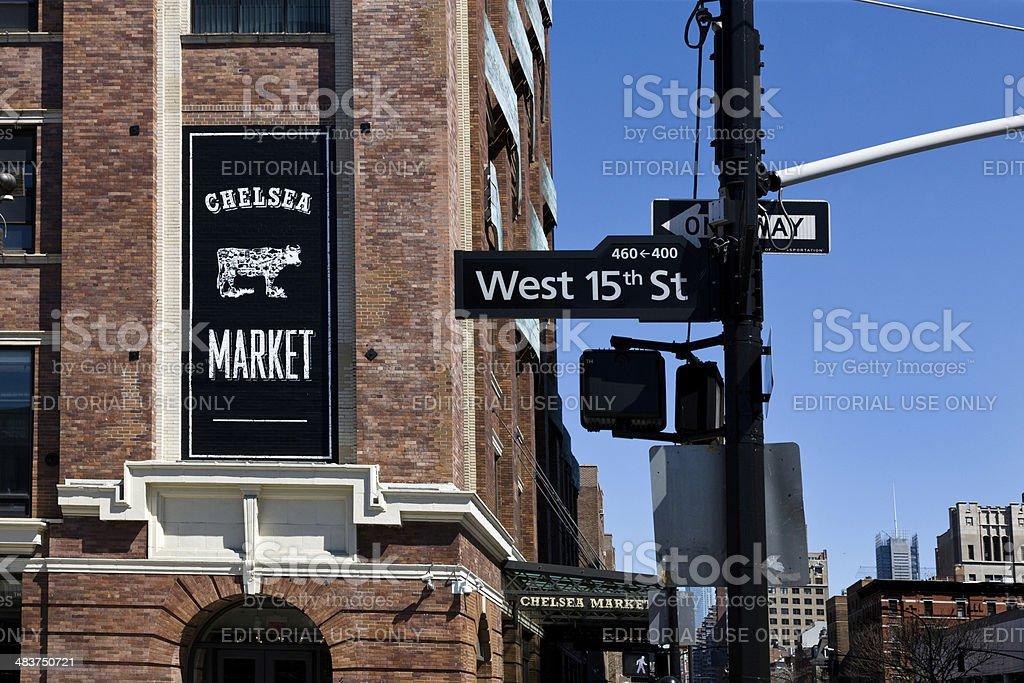 Chelsea Market in New York, NY stock photo
