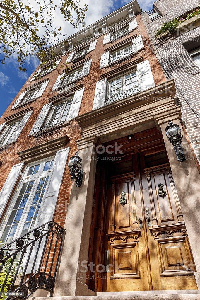 Chelsea townhouse, Manhattan, New York City stock photo