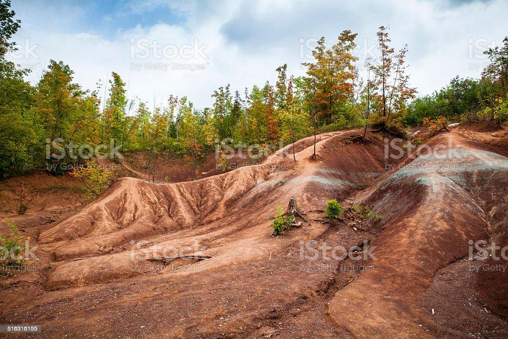 Cheltenham Badlands, Caledon, Ontario, Canada royalty-free stock photo