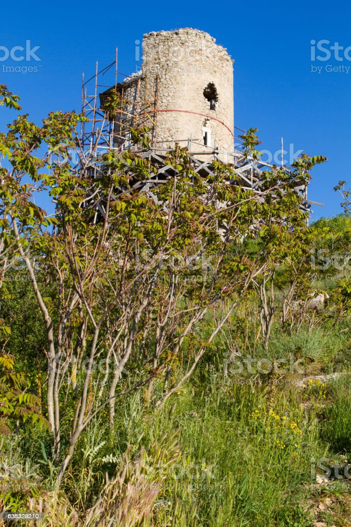 Chembalo old fort in Balaclava Crimea stock photo