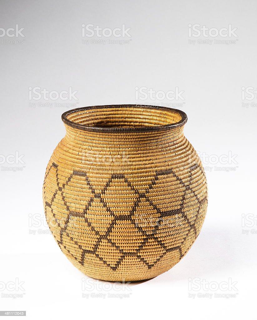 Chemehuevi Indian Olla Basket royalty-free stock photo