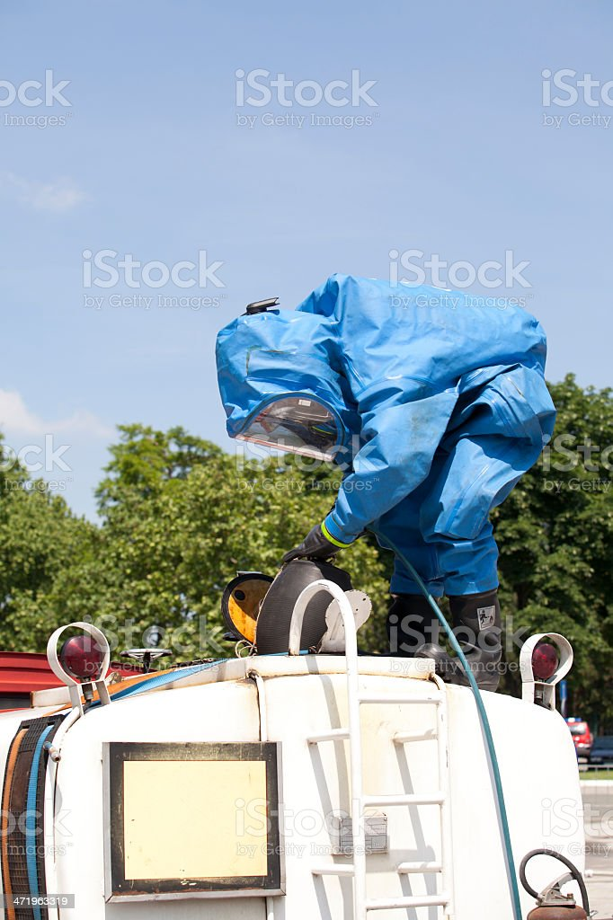 Chemical accident royalty-free stock photo