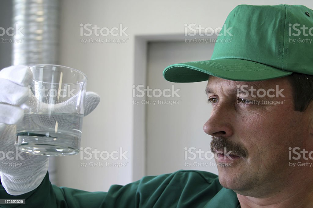 Chemical analyst royalty-free stock photo