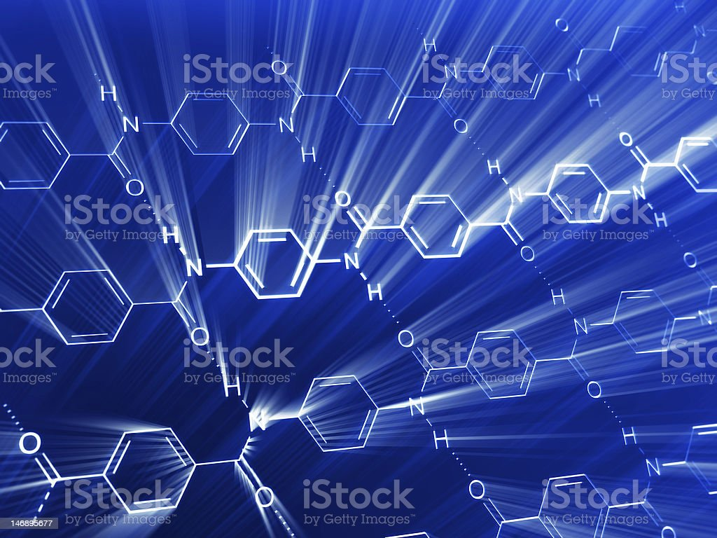 chemical background stock photo