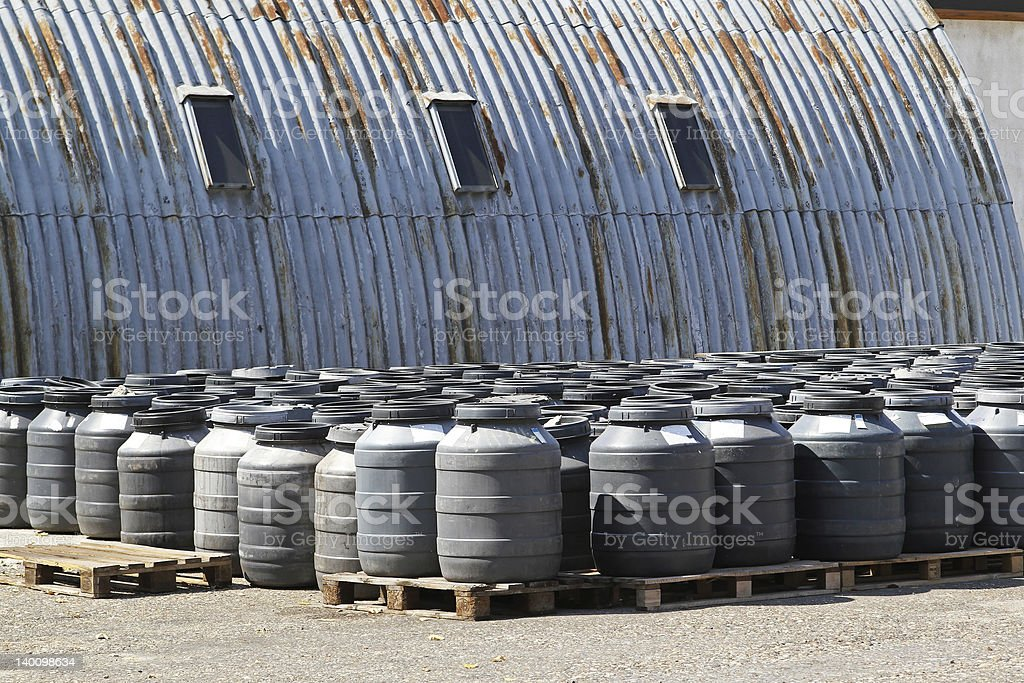Chemical barrels royalty-free stock photo