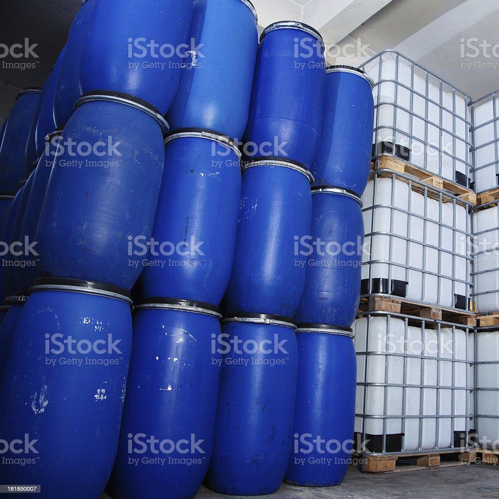 Chemical Barrels royalty-free stock photo