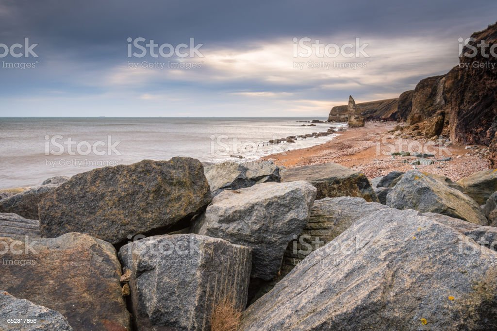 Chemical Beach at Seaham stock photo
