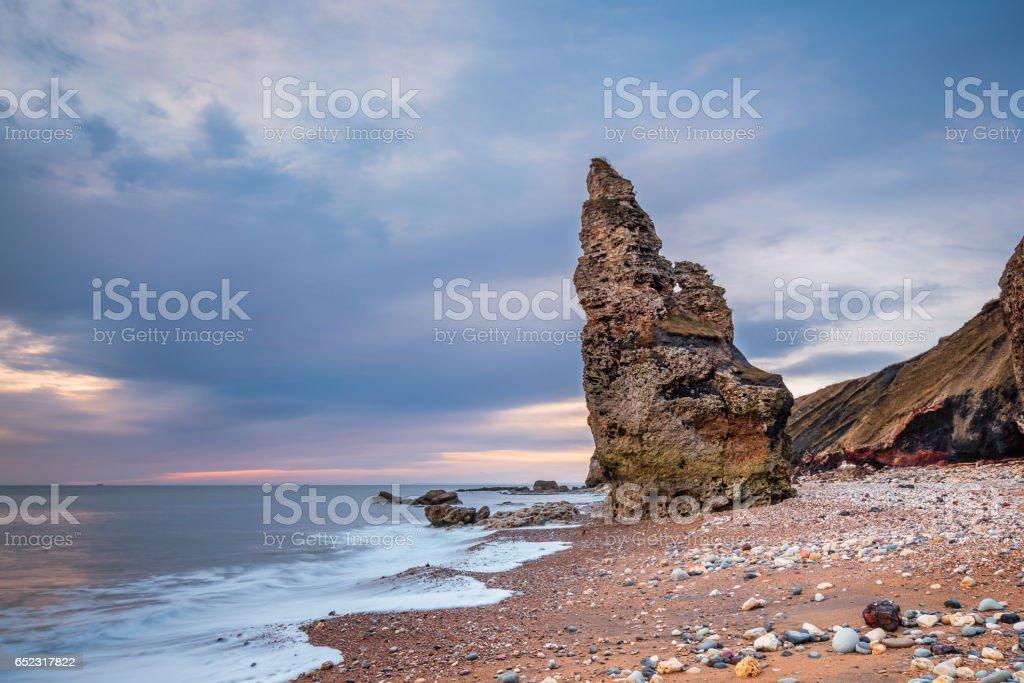 Chemical Beach Sea Stack stock photo