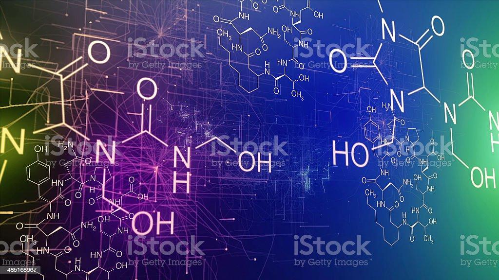 Chemical brain stock photo