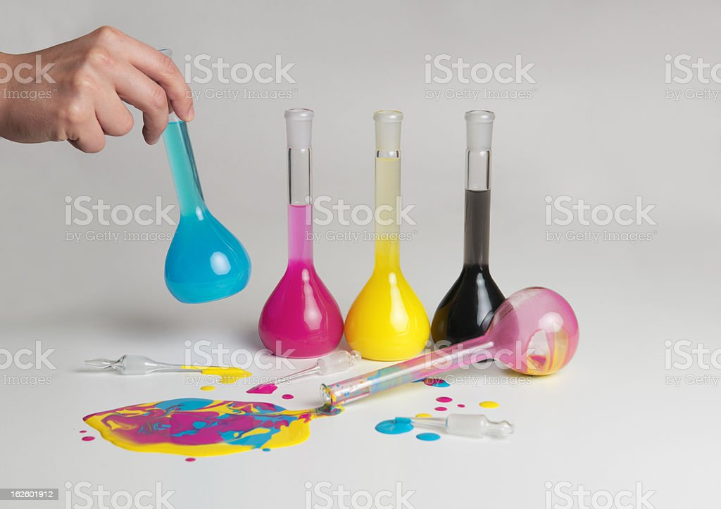 chemical colors stock photo