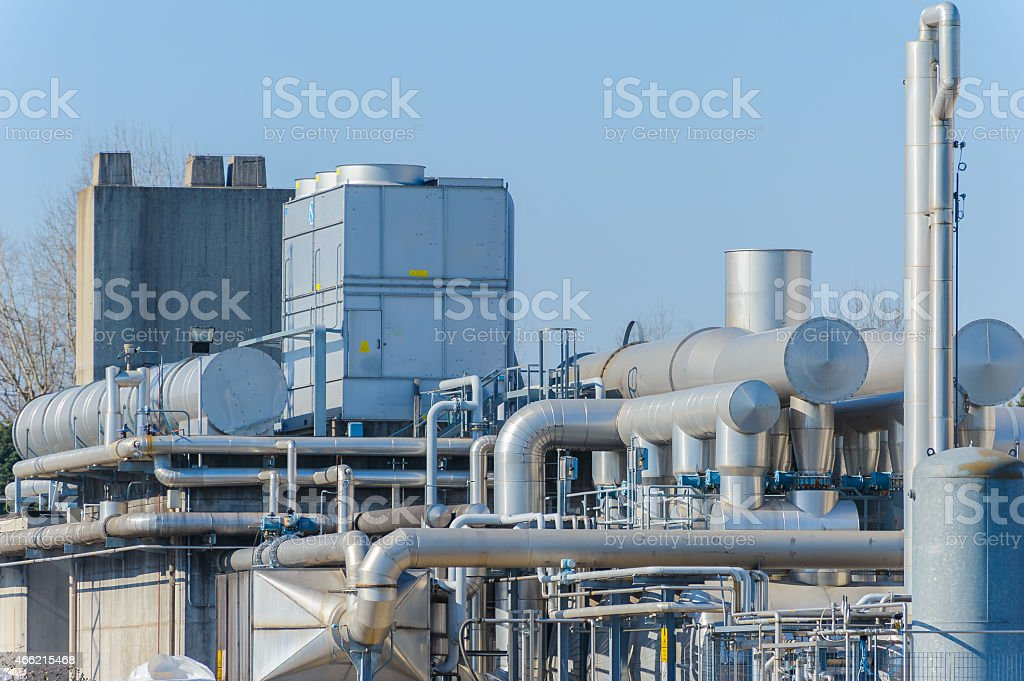 Chemical complex, detail stock photo