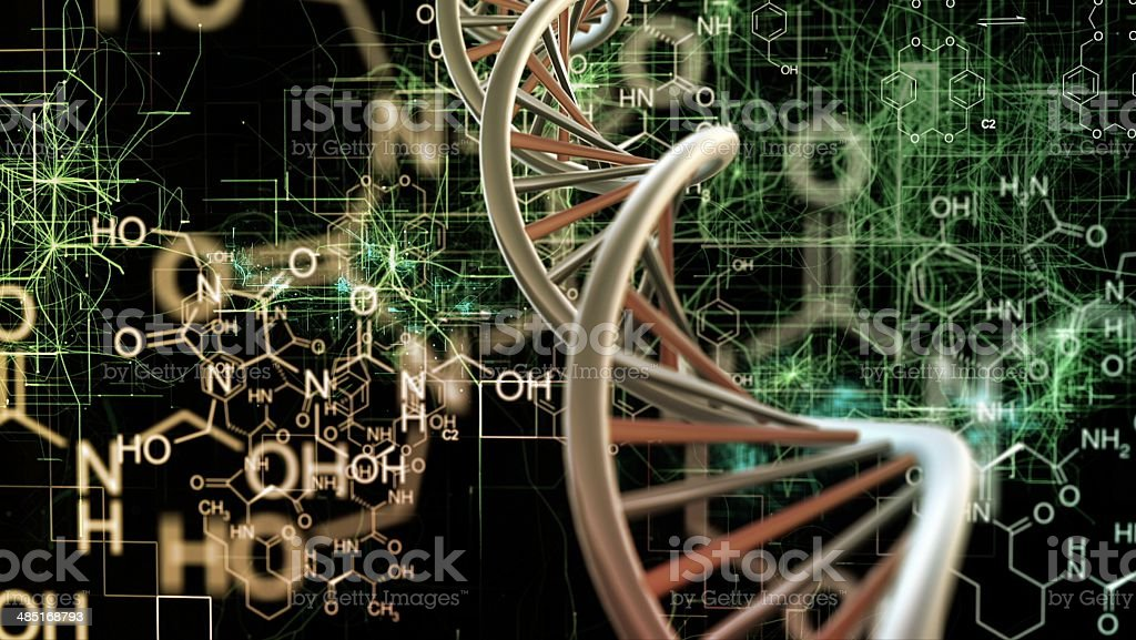 Chemical dna stock photo