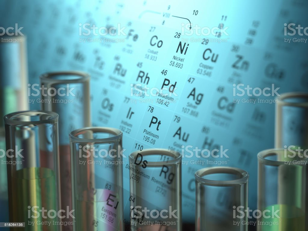 Chemical Elements stock photo