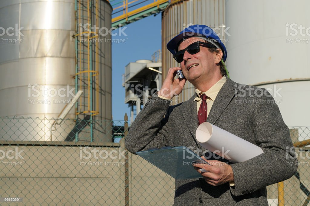 Chemical Engineer Phoning royalty-free stock photo