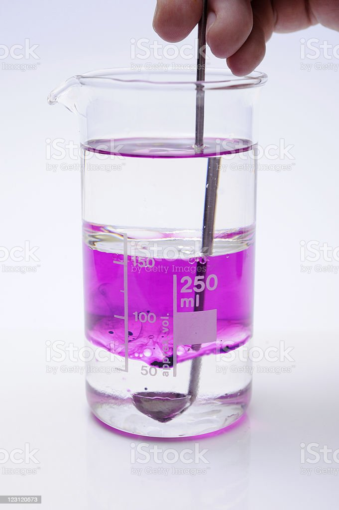 chemical experiment royalty-free stock photo