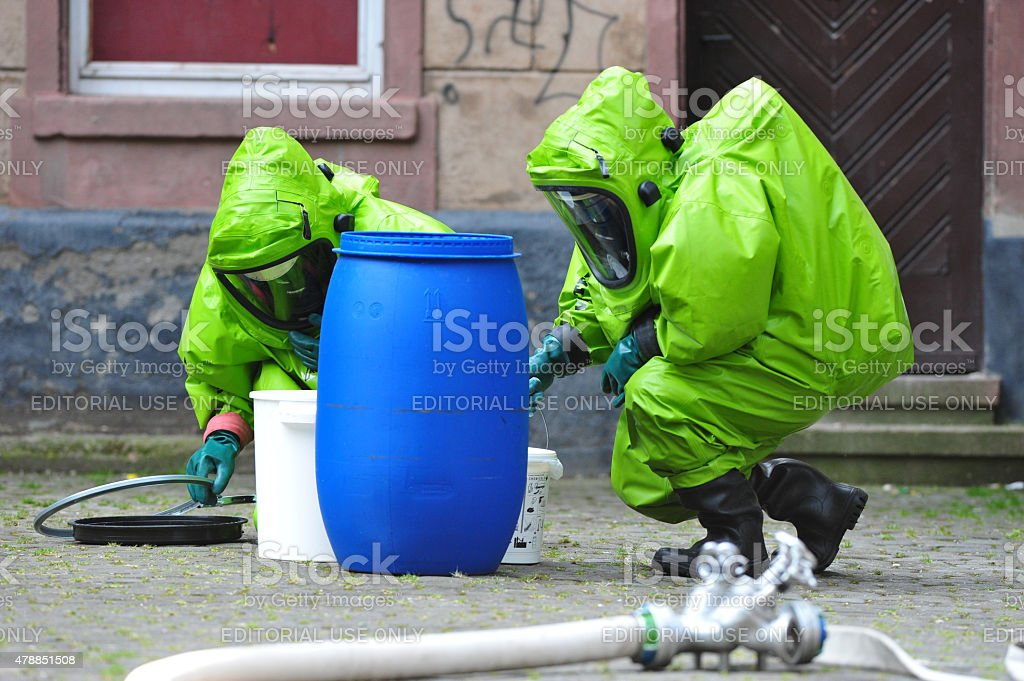 Chemical experts stock photo