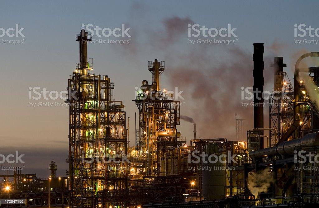 Chemical Factory 3 stock photo