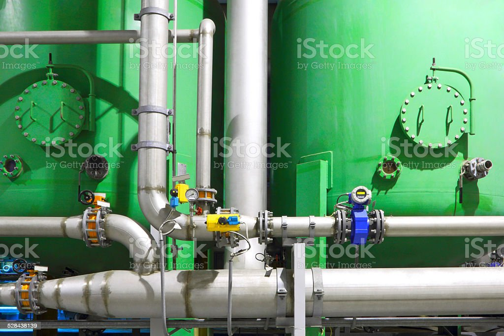 Chemical factory business stock photo