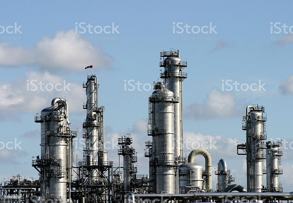 chemical factory royalty-free stock photo