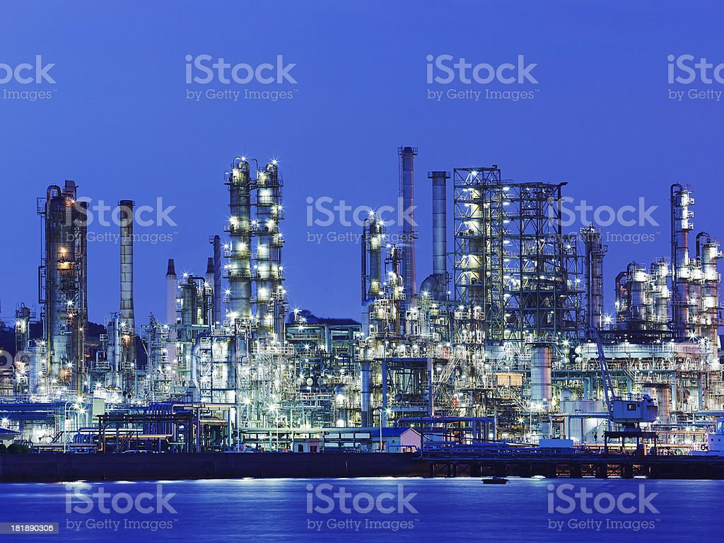 Chemical Factory stock photo