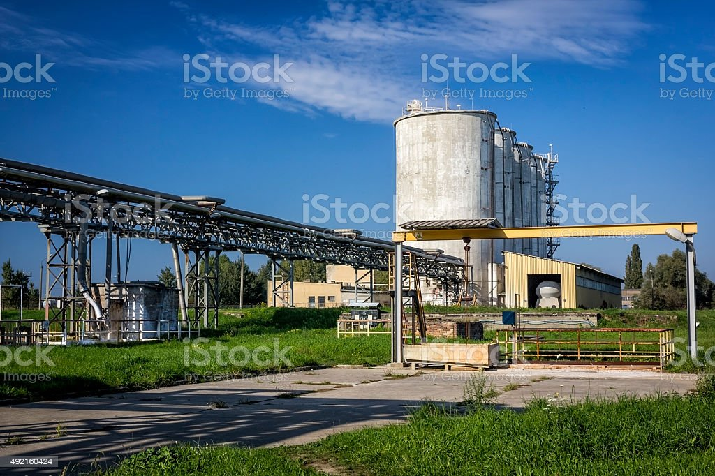 Chemical Factory, Police, Poland stock photo