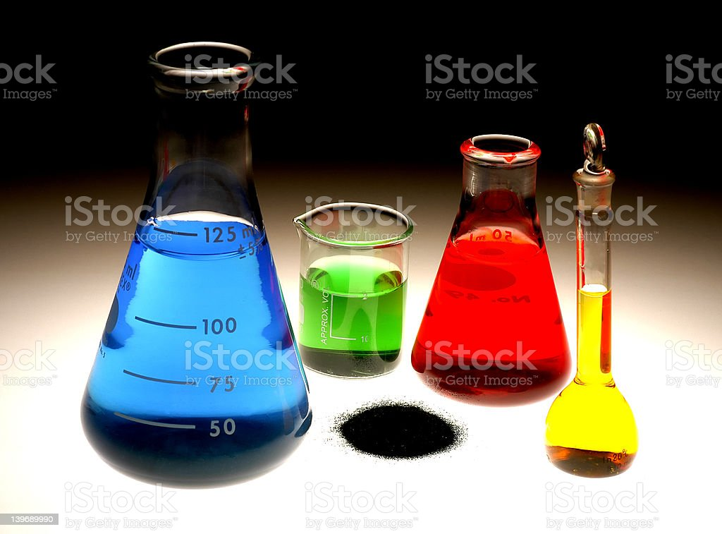 Chemical Flasks royalty-free stock photo