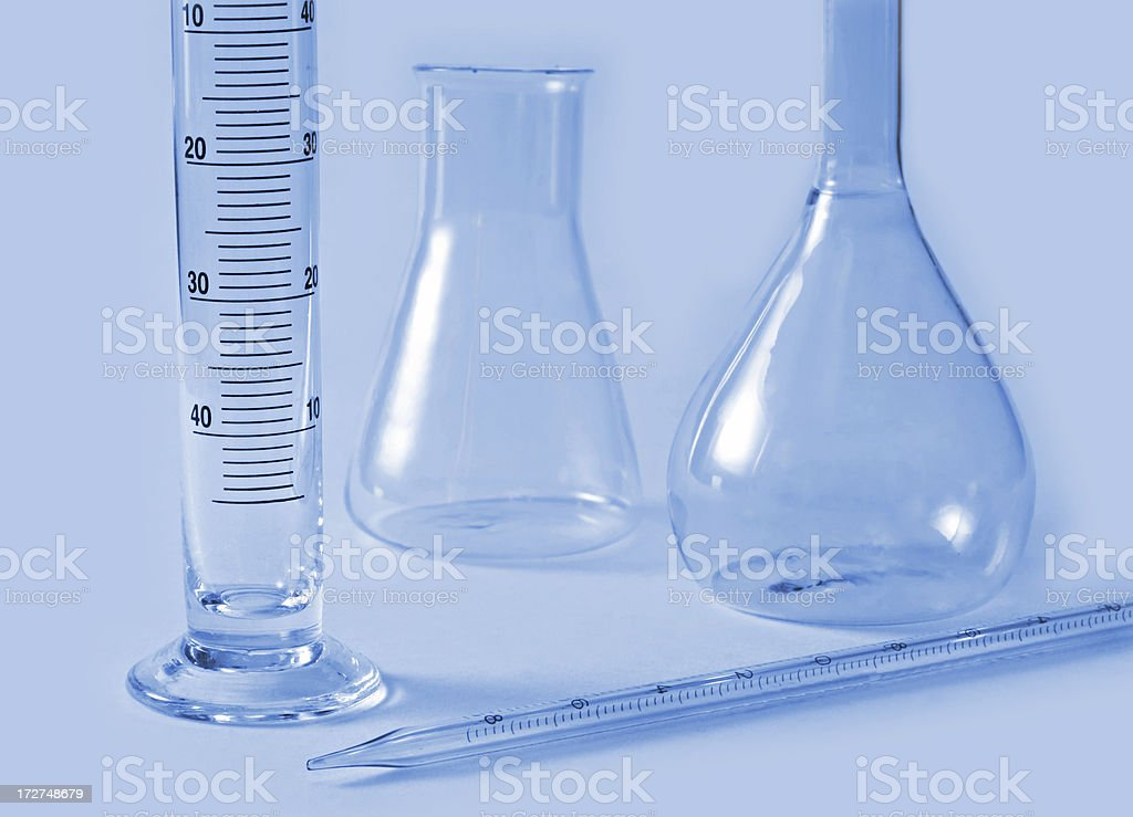 chemical glass equipment royalty-free stock photo