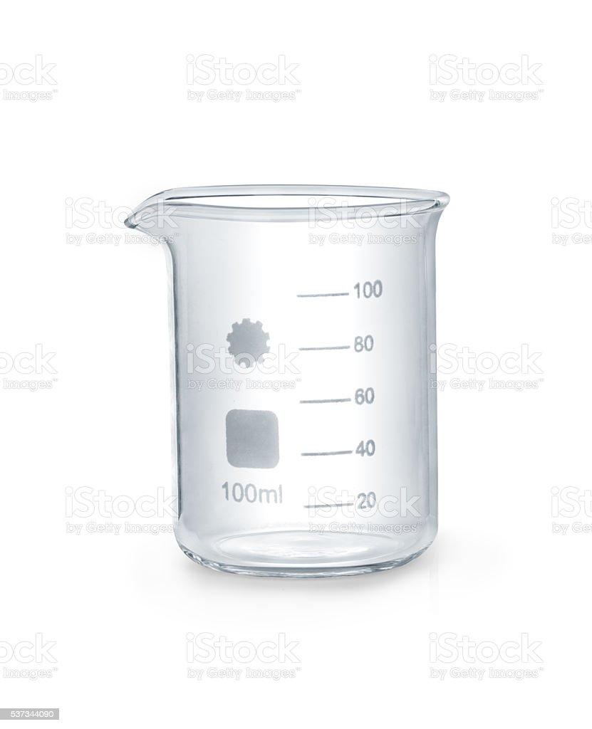 Chemical glass equipment stock photo