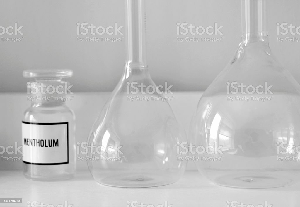 Chemical glass-ware royalty-free stock photo