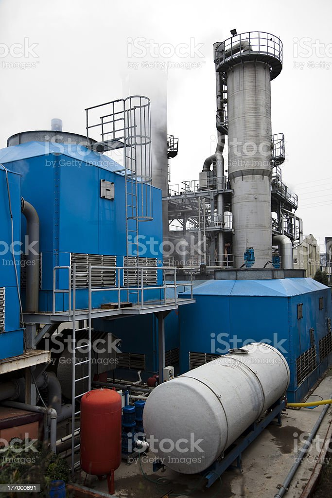 Chemical Industrial Building III stock photo